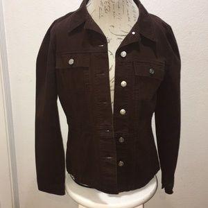 Zena Jeans Brown Cowgirl Denim Jacket Sz M